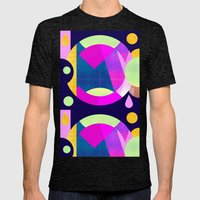 Abstractions No. 5: Pyramid Mens Fitted Tee Tri-Black SMALL