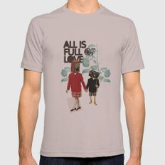 ALL IS FULL OF LOVE Mens Fitted Tee Cinder SMALL