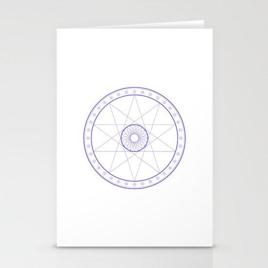 Anime Magic Circle 10 Stationery Card