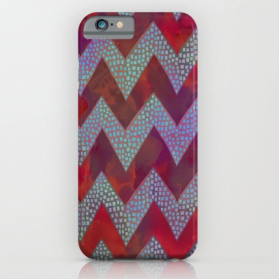 Little Squares Chevron - Red iPhone & iPod Case