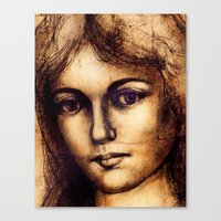Antiqued Canvas Print