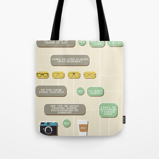Are you a hipster? Tote Bag