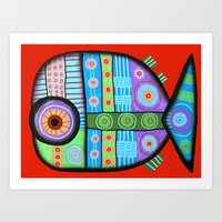 Fish Which Ate Ship Art Print