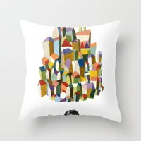 read a city Throw Pillow