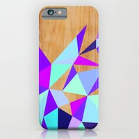 Wooden Geo Purple iPhone 6 Slim Case