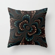 Fractal Rose Throw Pillow