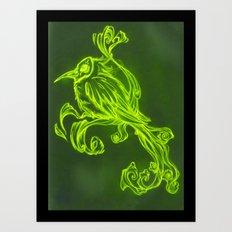 Voodoo feather Art Print