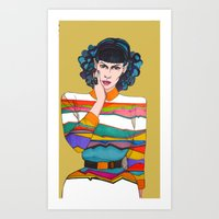 What is she thinking? Art Print