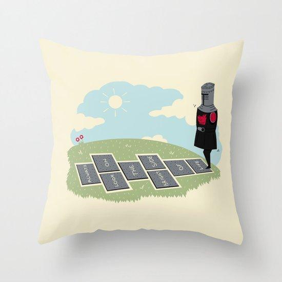 The Optimist Throw Pillow