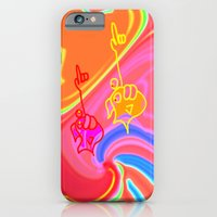 iPhone & iPod Case featuring Saltwater Fish and Taffy by Davey Charles