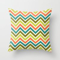 Citronique Series: Chevr… Throw Pillow