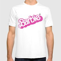 Barbie Girl Mens Fitted Tee White SMALL