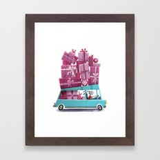Pressent Bunny  Framed Art Print