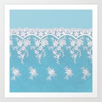 Love of Turquoise #lace Art Print