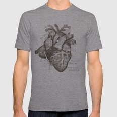Restless Heart Mens Fitted Tee Tri-Grey SMALL