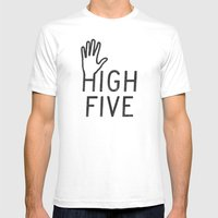 High Five Mens Fitted Tee White SMALL