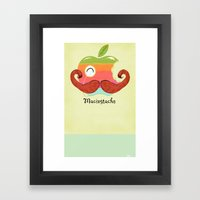 The Macinstache Framed Art Print