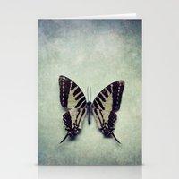 Vintage Butterfly 5 Stationery Cards