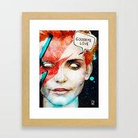 Ziggy Stardust/David Bow… Framed Art Print