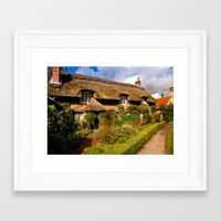 A Country Cottage Framed Art Print