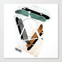 Skatestriangles Canvas Print