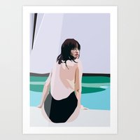 Painted Poolside Art Print