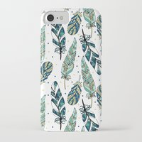feathers iPhone & iPod Cases featuring Feathers by Julia Badeeva