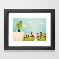 Zacchaeus (by Dominic Fl… Framed Art Print