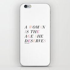 Age She Deserves iPhone & iPod Skin