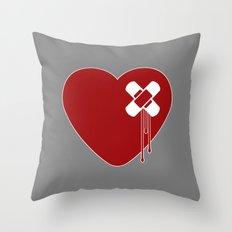 Heart Broken Throw Pillow