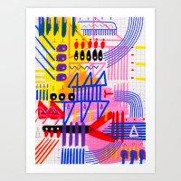 Sinfonia Das Cores 1 Art Print