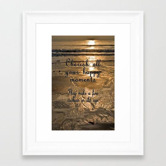 Cherish the Moment Framed Art Print