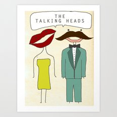 The Talking Heads Art Print