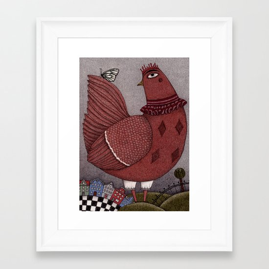 It's a Butterfly! Framed Art Print