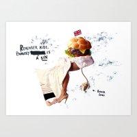 Burgery is a Sin Art Print