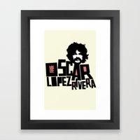 Oscar Lopez Rivera Framed Art Print