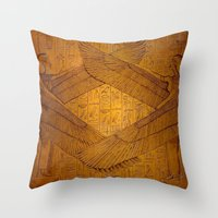 Egpytian Winged Godessess Throw Pillow