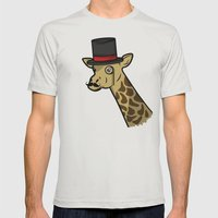 Like A Siraffe Mens Fitted Tee Silver SMALL