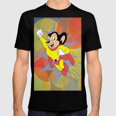 Mighty Mouse - Circles Mens Fitted Tee Black SMALL