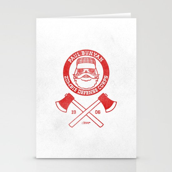 Paul Bunyan Zombie Defense Corps Stationery Card