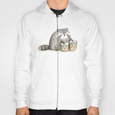 Raccoon on Bongos Hoody