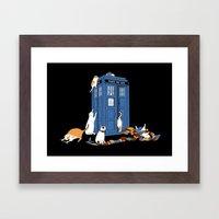 Who Cats Framed Art Print