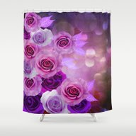 Shower Curtain featuring Rose Glow Abstract by Judy Palkimas