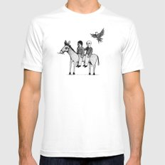 And you will return with your horse tired Mens Fitted Tee White SMALL