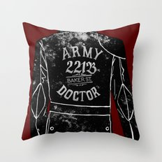 The Army Doctor Throw Pillow