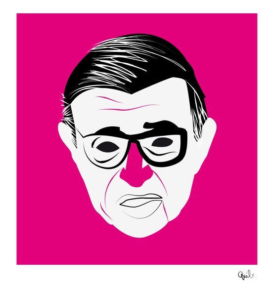 Jean Paul Sartre Art Print