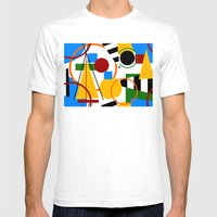 Abstract Art Deco Bermud… Mens Fitted Tee White SMALL