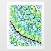 Sharpie Doodle 3 Art Print
