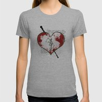 Heart #2 Womens Fitted Tee Athletic Grey SMALL