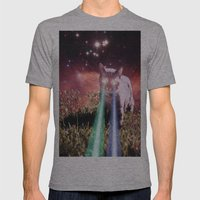 Mega Space Cat Rising Mens Fitted Tee Athletic Grey SMALL